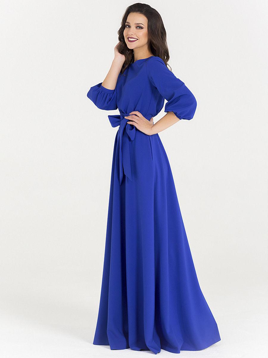Синее платье на вечер