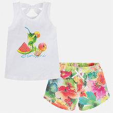 Mayoral | Комплект: футболка и шорты для девочки Mayoral | Clouty