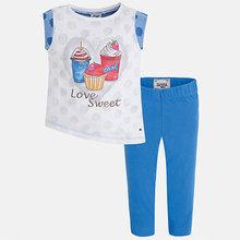 Mayoral | Комплект: футболка с длинным рукавом и бриджи для девочки Mayoral | Clouty