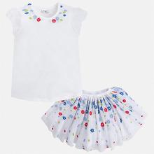 Mayoral | Комплект: топ и юбка для девочки Mayoral | Clouty