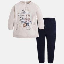 Mayoral | Комплект: блузка и леггинсы для девочки Mayoral | Clouty