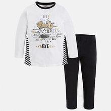 Mayoral | Комплект: футболка с длинным рукавом и леггинсы Mayoral для девочки | Clouty