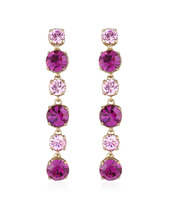 AZ Collection | Серьги с  Розовыми и Аметистовыми Кристаллами | Clouty