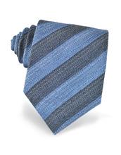 Forzieri Exclusives | Синий и Красный Галстук из Текстурного Шелка с Диагональными Полосками | Clouty