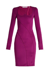 GIVENCHY | Sweetheart-neckline stretch mini dress | Clouty