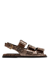 Marni | Bow-detail leather slingback sandals | Clouty