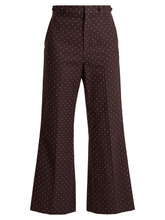 Chloé | Embroidered-dot cotton trousers | Clouty
