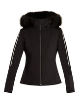 FENDI   Contrast-stripe fur-trimmed ski jacket   Clouty