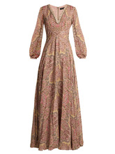 Etro | Paisley-print bead-embellished silk gown | Clouty