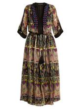 Etro | Embellished silk-blend chiffon dress | Clouty