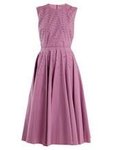 Bottega Veneta | Stud-embellished cotton-blend dress | Clouty