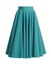 Bottega Veneta | Studded A-line cotton-poplin skirt | Clouty
