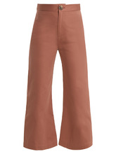 Sea New York | Sailor kick-flare cotton cropped trousers | Clouty
