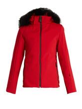 FENDI   Logo-print fur-trimmed ski jacket   Clouty