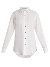 Off-White | Point-collar cotton shirt | Clouty