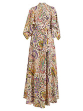 Etro | Marte silk crepe de Chine gown | Clouty