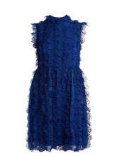 GIVENCHY | Ruched-lace high-neck dress | Clouty