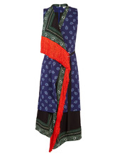 Altuzarra | Bina sleeveless scarf-print stretch-cady dress | Clouty