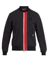 MONCLER | Joey logo-applique gabardine bomber jacket | Clouty