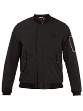 MONCLER | Jerry logo-applique gabardine bomber jacket | Clouty