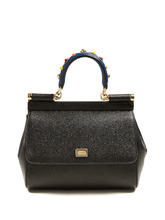 Dolce & Gabbana | Sicily small pebble-leather cross-body bag | Clouty