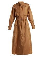 Bottega Veneta | Tie-waist silk-blend taffeta trench coat | Clouty