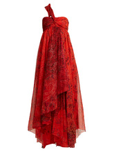 Etro | Chennai one-shoulder paisley-print silk dress | Clouty