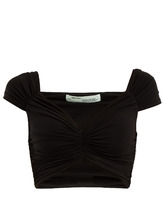 Off-White | Ruched cropped top | Clouty