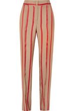 Etro | Etro - Striped Satin-twill Wide-leg Pants - Beige | Clouty