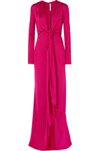 GIVENCHY | Givenchy - Knotted Stretch-jersey Gown - Fuchsia | Clouty