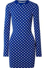 GIVENCHY | Givenchy - Jacquard-knit Mini Dress - Blue | Clouty