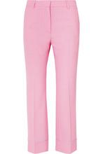 Paul & Joe | Paul & Joe - Cropped Twill Flared Pants - Pink | Clouty