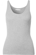 Skin | Skin - Valerie Ribbed Cotton-blend Tank - Gray | Clouty