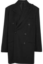 Balenciaga | Balenciaga - Double-breasted Grain De Poudre Wool Jacket - Black | Clouty