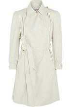 Balenciaga | Balenciaga - Pulled Feminin Ruched Cotton-canvas Coat - Gray | Clouty