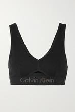 Calvin Klein | Calvin Klein Underwear - Cutout Stretch-cotton Soft-cup Bra - Black | Clouty