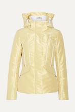 FENDI   Fendi - Roma Metallic Padded Ski Jacket - Gold   Clouty