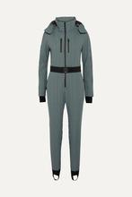 FENDI   Fendi - Belted Striped Stirrup Ski Suit - Black   Clouty