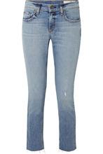 RAG & BONE | rag & bone - Dre Distressed Low-rise Skinny Jeans - Mid denim | Clouty