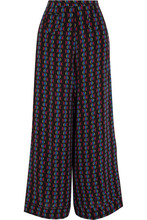Etro | Etro - Printed Silk-chiffon Wide-leg Pants - Black | Clouty