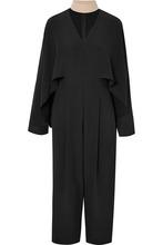 FENDI   Fendi - Draped Silk Crepe De Chine Jumpsuit - Black   Clouty