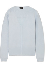 Tom Ford | TOM FORD - Embellished Silk-blend Sweater - Light blue | Clouty