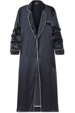 Johanna Ortiz | Johanna Ortiz - Guadalupe Hidalgo Piped Silk-satin Jacket - Midnight blue | Clouty