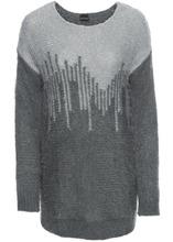 Bonprix | Пуловер с пайетками (темно-серый/светло-серый) | Clouty