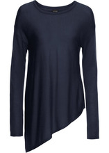Bonprix | Тонкий пуловер (темно-синий) | Clouty