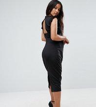 ASOS | Платье-футляр миди с вырезом на спине ASOS Maternity - Черный | Clouty