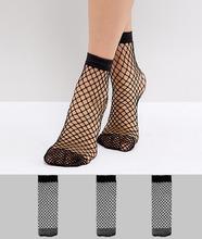 ASOS | 3 пары сетчатых носков ASOS - Черный | Clouty