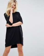 ASOS | Платье-футболка оверсайз с рукавами реглан ASOS - Черный | Clouty