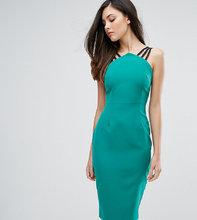 Vesper | Платье-футляр с бретельками и молнией на спине Vesper - Зеленый | Clouty