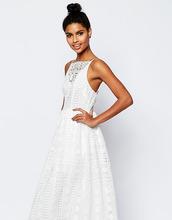 ASOS   Платье миди из кружева с геометрическим узором ASOS PETITE Premium   Clouty